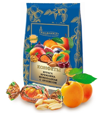 KREMLINA chocolate dried apricots with peanuts 190g