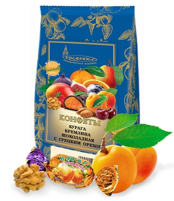 KREMLINA chocolate dried apricots with walnuts 190g