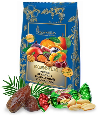 KREMLINA chocolate date fruit with peanuts 190g