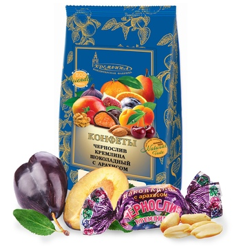 KREMLINA сhocolate prune with peanuts 190g