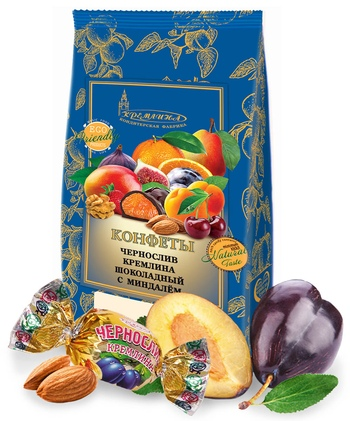 KREMLINA сhocolate prune with almonds 190g