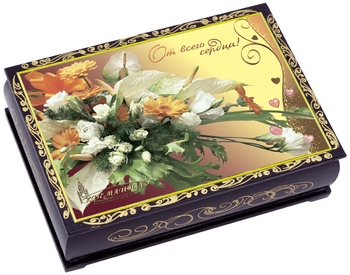KREMLINA сhocolate prune with walnuts in souvenir lacquer casket 150g