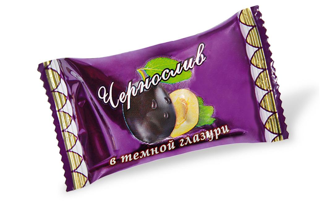 Чернослив КРЕМЛИНА шоколадный в темной глазури